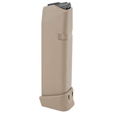 Glock OEM Magazine 19Rd, 9MM Fits All Generations of G17/19X/34 - Coyote Brown Finish