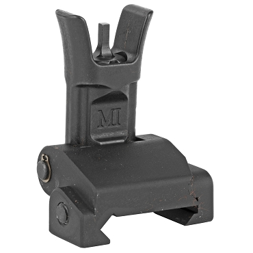 Midwest Industries Combat Rifle Front Sight, Low Profile, Mil-Spec Sight Height, Steel and 6061 Aluminum, Black Finish